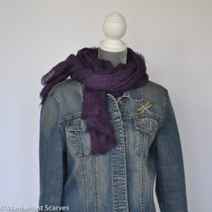 Casual Cotton Blend Scarf