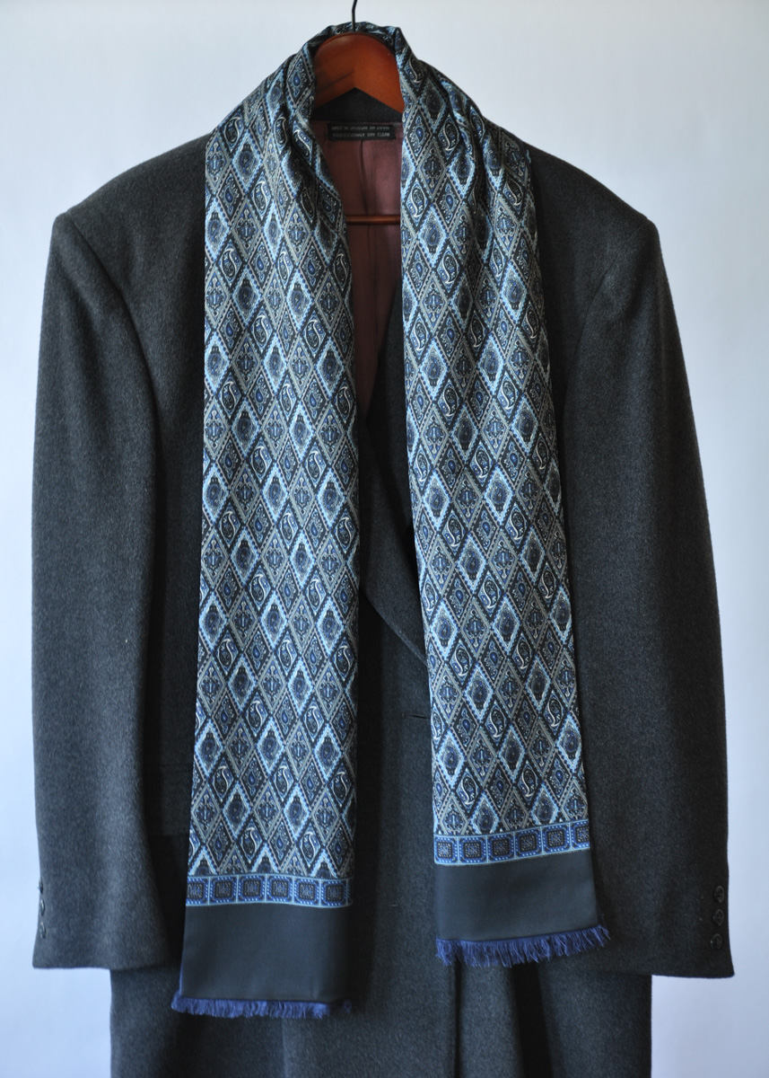 0c125bb16 Mens Classic Silk and Cashmere Scarf - Wanderlust Scarves