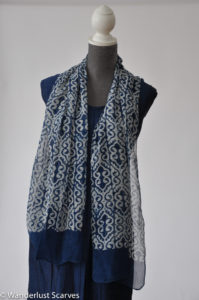 Silk Batik Indigo Swirls