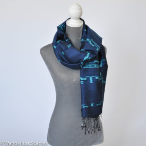 Ikat Silk and Cotton Scarf