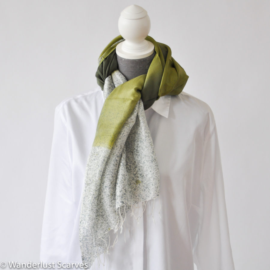 Artist Designed Spring Green Ombre Speckled