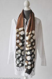 Artist Designed Polka Dot Silk Scarf