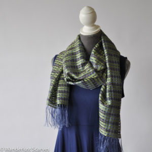 Vila Cini Silk Basketweave Scarf Wide