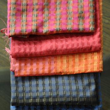 Vila Cini Basketweave Silk Scarf Narrow