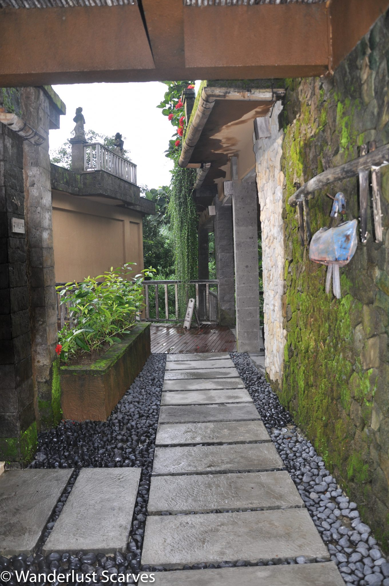 Walkway to spa