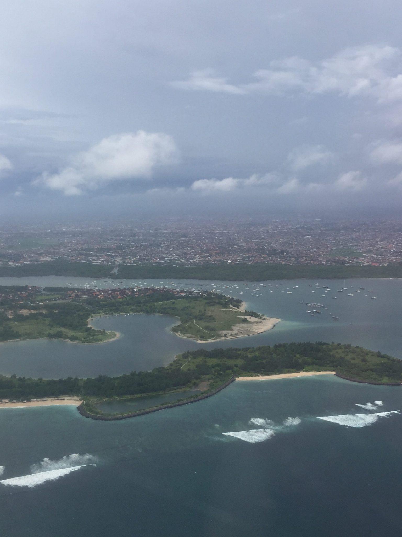 View over Bali Denpasar