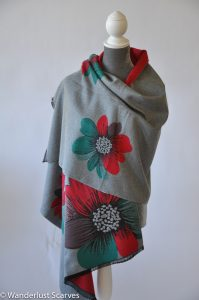 Cashmere Blend Reversible Blanket Scarf