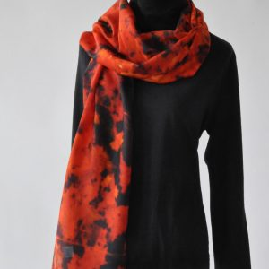 Silk & Cotton Scarf with a Canadian Twist