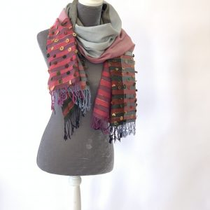 Cotton & Cashmere Colour-blocked Scarves
