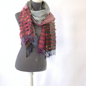 Cotton & Cashmere Colour-blocked Scarves