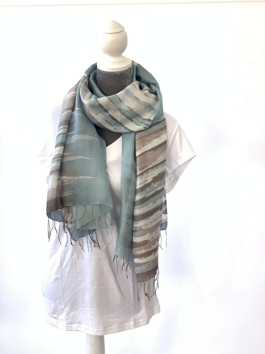 Artist Designed Silk Scarves - Seaglass