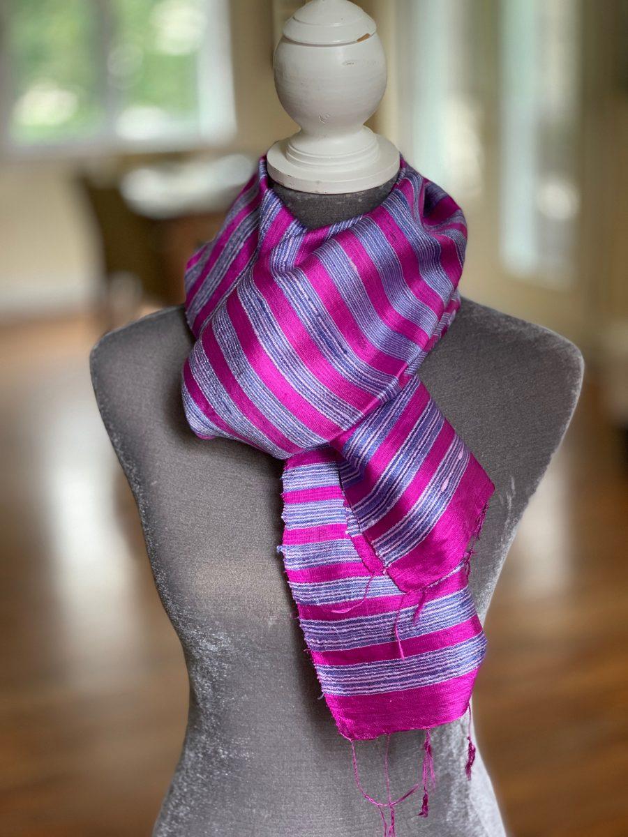 Jim thompson raw silk scarf