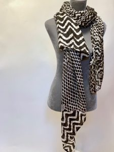 Luscious Silks Black and White Graphic