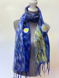 Nepalese Felted Wool Scarf Narrow