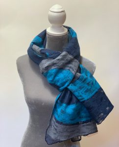 Lightweight Cozy Nepalese Felted Wool Scarf Large