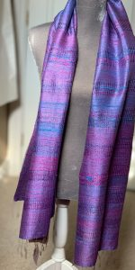 Jim thompson raw silk scarf