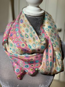 Luscious Silks Pink Circles