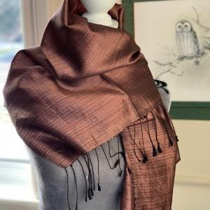 Luxurious Handwoven Silk Scarf