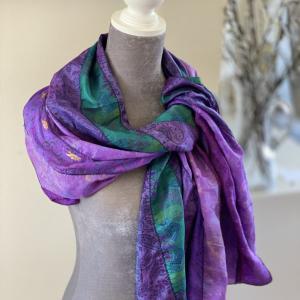 Recycled  Silk Sari Scarf