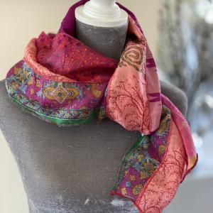 Recycled Silk Sari Scarves